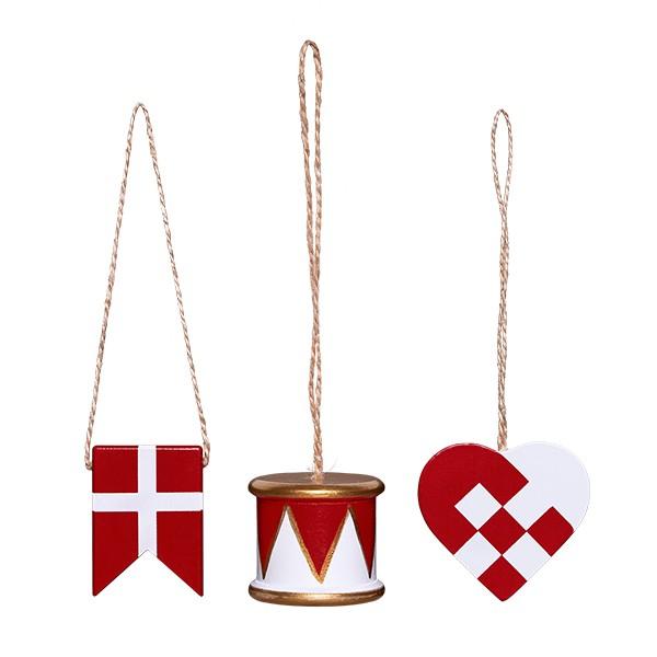Gaveæske med tromme, flag og hjerte